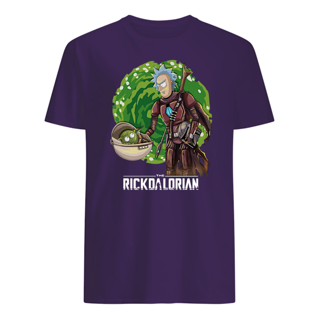 The rickdalorian baby yoda and rick mens shirt