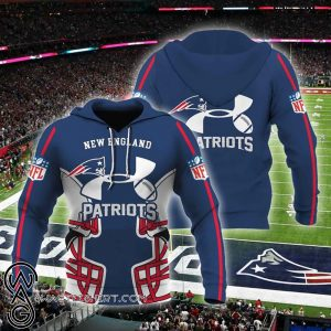 Under armour new england patriots all over printed shirt