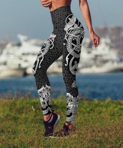 Viking muninn tattoo full printing legging