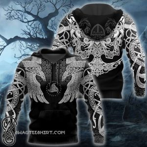Viking muninn tattoo full printing shirt