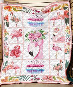 Vintage flamingo quilt 3
