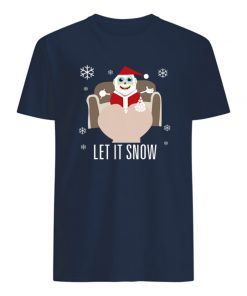 Walmart let it snow santa with lines of cocaine merry christmas mens shirt