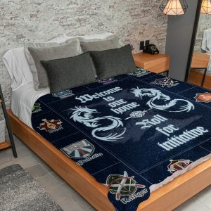 Welcome to our home dungeons and dragons fleece blanket 4