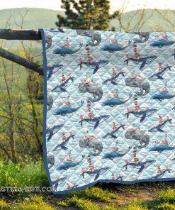 Whale ocean quilt