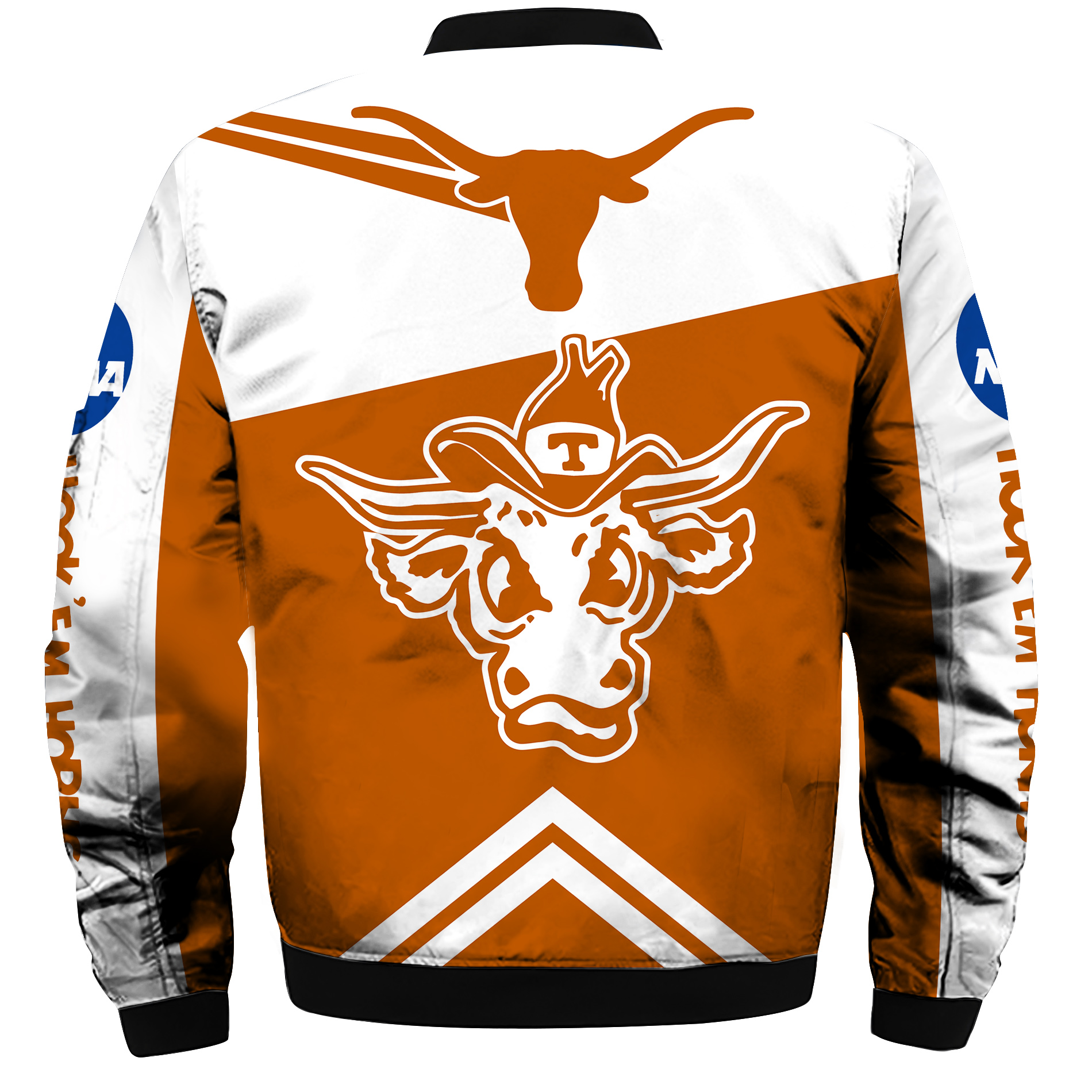 2019 alamo bowl champions texas longhorns all over printed bomber - back