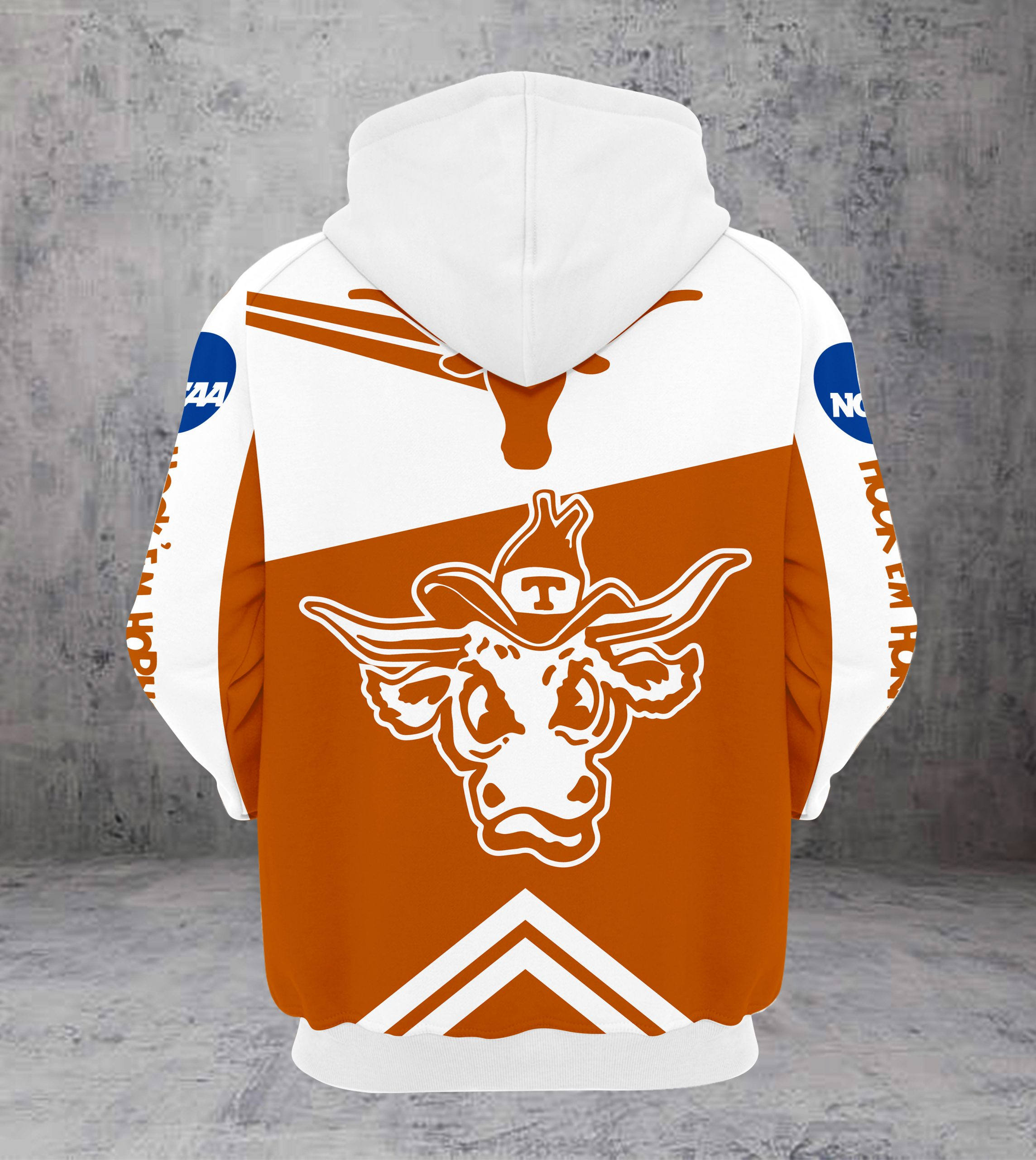 2019 alamo bowl champions texas longhorns all over printed hoodie - back