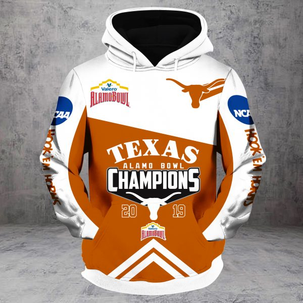 2019 alamo bowl champions texas longhorns all over printed hoodie