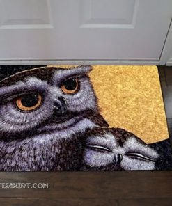 A cosy atmosphere owl all over printed doormat