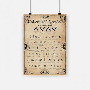 Alchemical symbol vertical poster 1