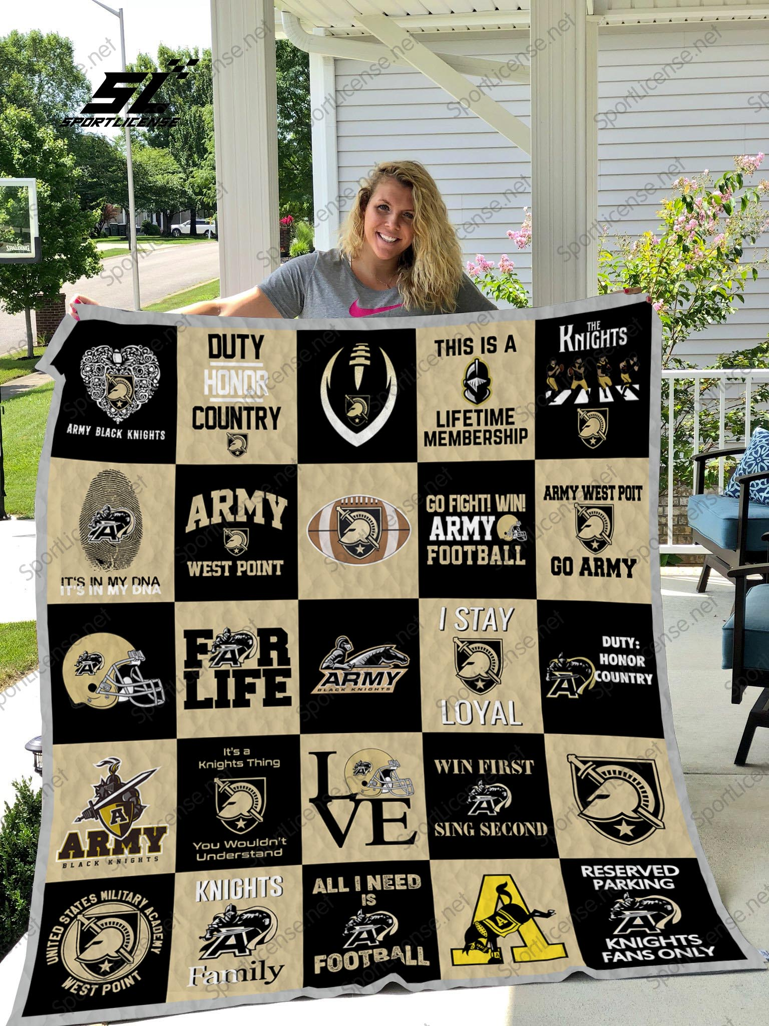 Army west point black knights quilt 1