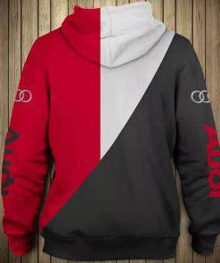 Audi logo all over printed hoodie 3