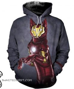 Avengers iron man iron cat all over print shirt