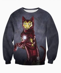 Avengers iron man iron cat all over print sweatshirt