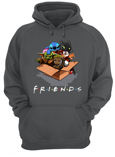 Baby yoda gizmo groot stitch and toothless hoodie