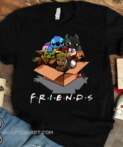 Baby yoda gizmo groot stitch and toothless shirt