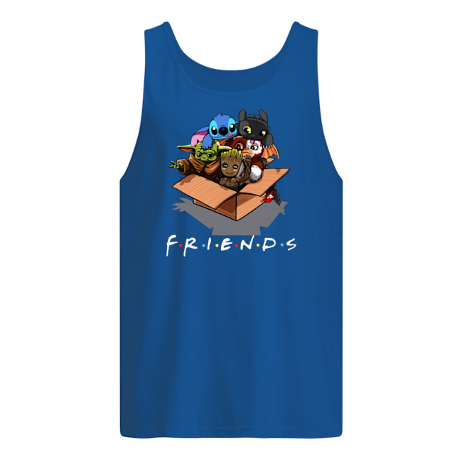 Baby yoda gizmo groot stitch and toothless tank top