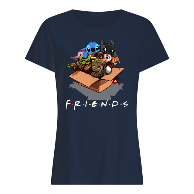 Baby yoda gizmo groot stitch and toothless womens shirt