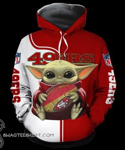 Baby yoda san francisco 49ers full over print shirt