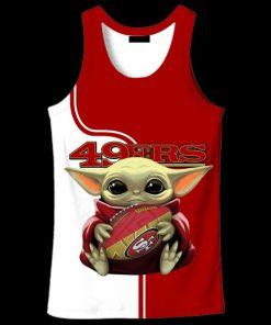 Baby yoda san francisco 49ers full over print tank top