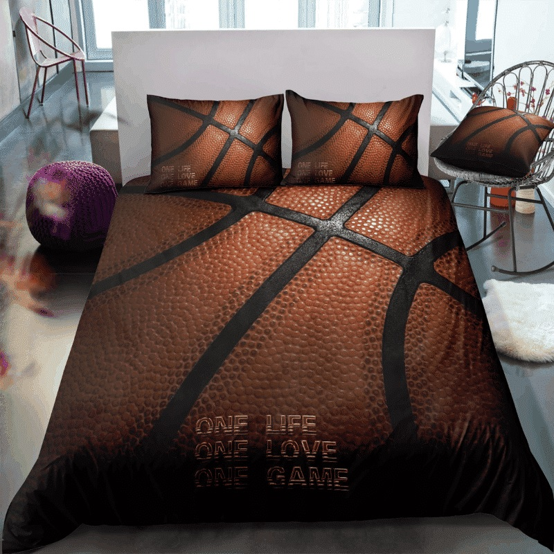 Basketball one life one love one game quilt 3