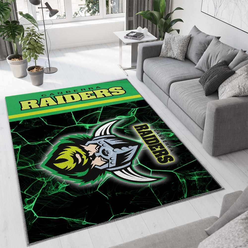 Canberra raiders all over print rug 1