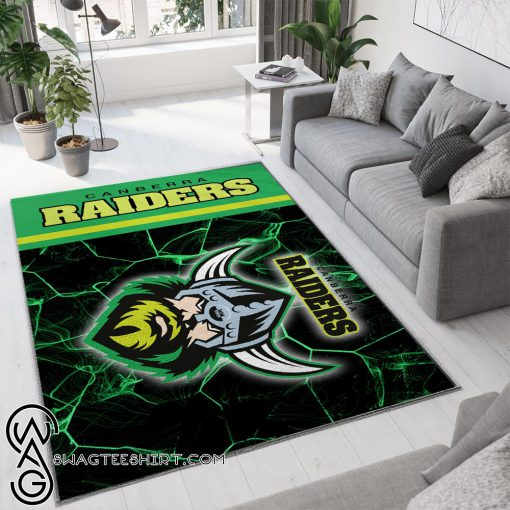 Canberra raiders all over print rug