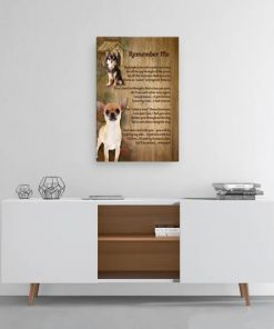 Chihuahua remember me canvas 1