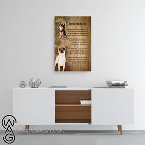 Chihuahua remember me canvas