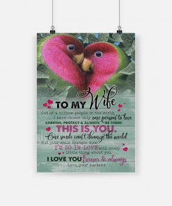 Couple parrot to my wife i love you forever and always love your husband poster 1