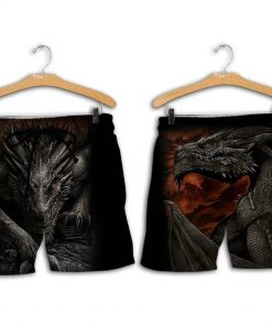 Dragon armor all over printed shorts