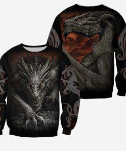 Dragon armor all over printed sweatshirt