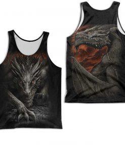 Dragon armor all over printed tank top