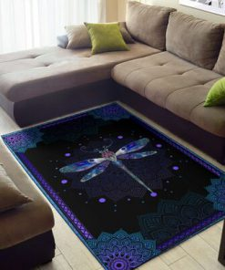 Dragondly all over print rug 1