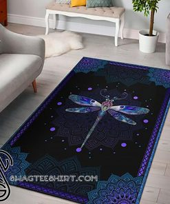 Dragondly all over print rug