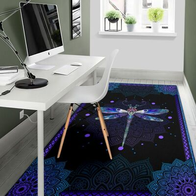 Dragondly all over print rug 4