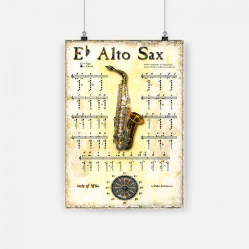 Eb alto sax saxophone musical instrument poster 1