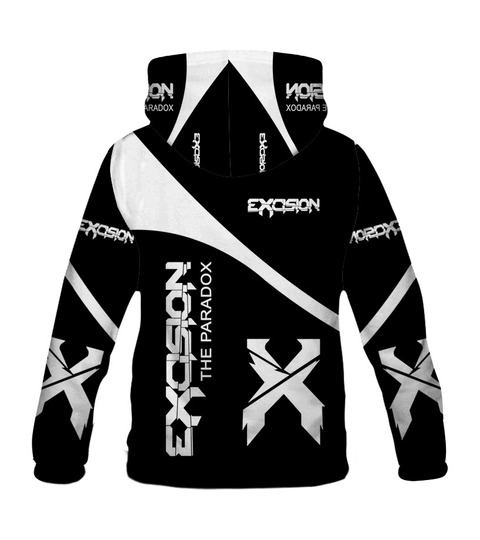 Excision the paradox all over print hoodie - back
