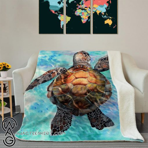 Finding the new way sea turtles full printing blanket