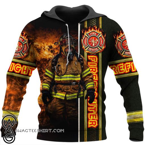 Fire fight 3d all over printed shirt