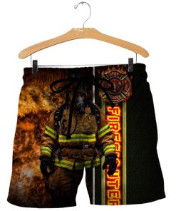 Fire fight 3d all over printed shorts