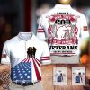I took a dna test god is my father veterans are my brothers all over print shirt
