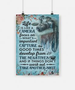 Life is like a camera poster 1
