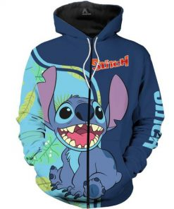 Lilo and stitch full over print zip hoodie