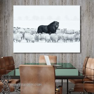 Lion amongst sheep canvas