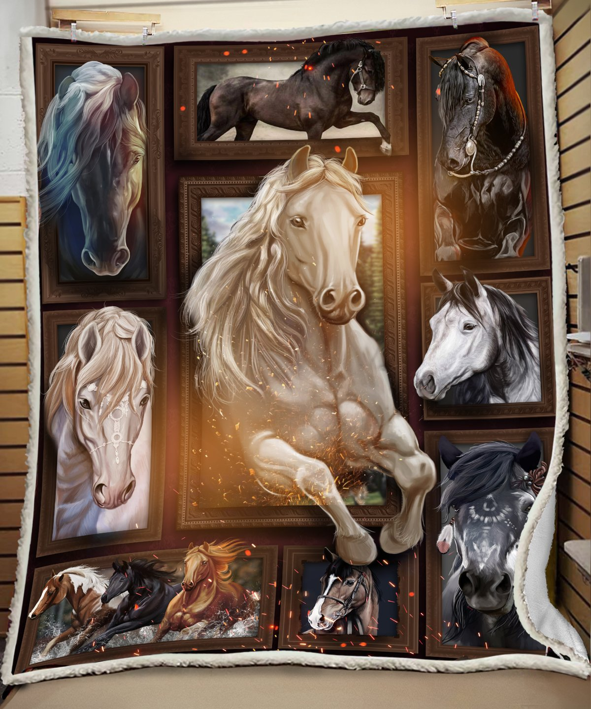 Love horse full printing blanket 3
