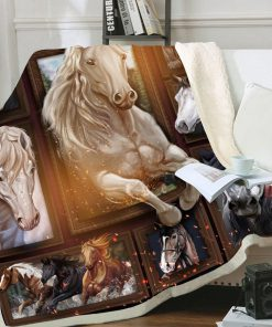 Love horse full printing blanket 4