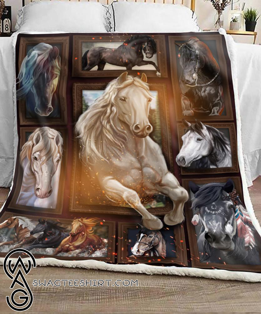 Love horse full printing blanket
