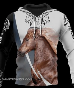 Love white horse all over printed shirt