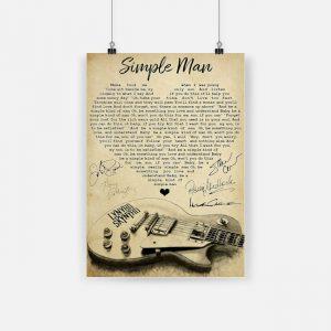Lynyrd skynyrd simple man poster 1
