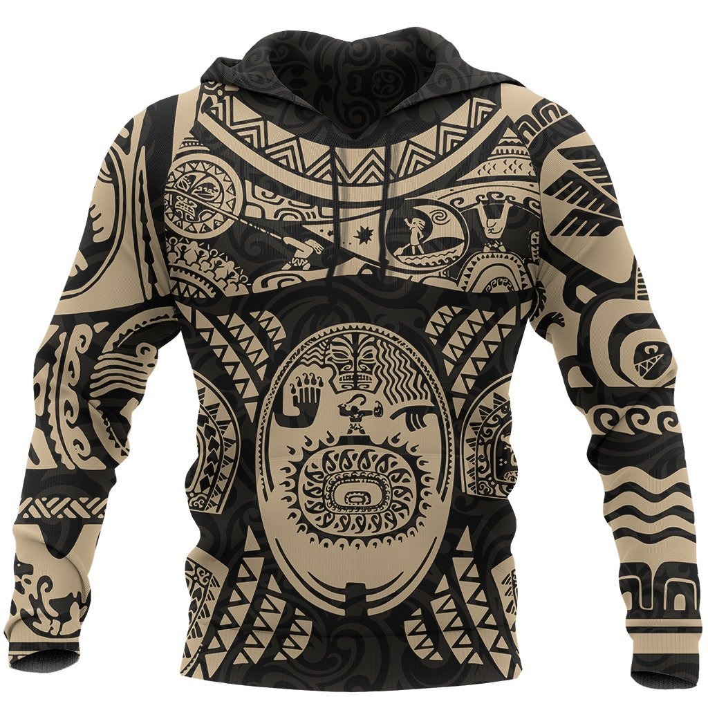 Maui polynesian tattoo all over print hoodie